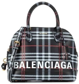 Balenciaga Ville S plaid leather shoulder bag