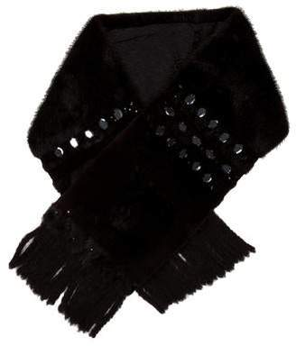 Louis Vuitton Embellished Mink Stole
