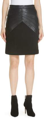 BA&SH Siracuse Leather Pencil Skirt
