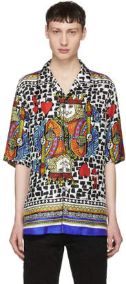 Dolce & Gabbana Multicolor Silk King of Hearts Shirt