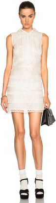Red Valentino Eyelet Lace Mini Dress $1,195 thestylecure.com
