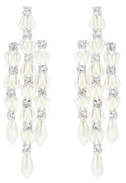 Simone Rocha Crystal and faux-pearl earrings