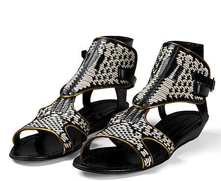 Sigerson Morrison Woven Gladiator Sandal