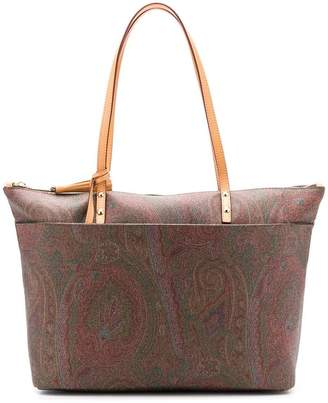 Etro Paisley knot tote bag