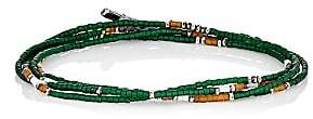 M. Cohen Men's Beaded Necklace-Green