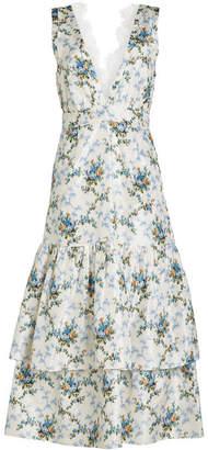 Brock Collection Darling Printed Silk Dress
