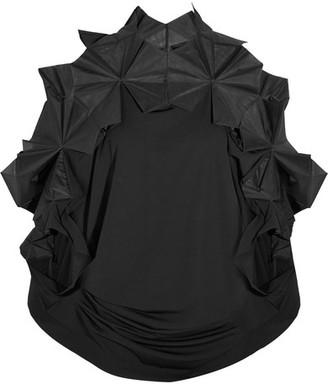 Junya Watanabe - Organza-trimmed Stretch-jersey Tunic - Black $2,060 thestylecure.com