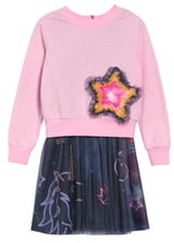 Truly Me Star Sweatshirt & Tutu Dress Set