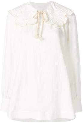 See by Chloe rope tied blouse