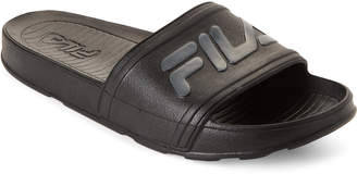 Fila Black & Grey Sleek Slide Sandals