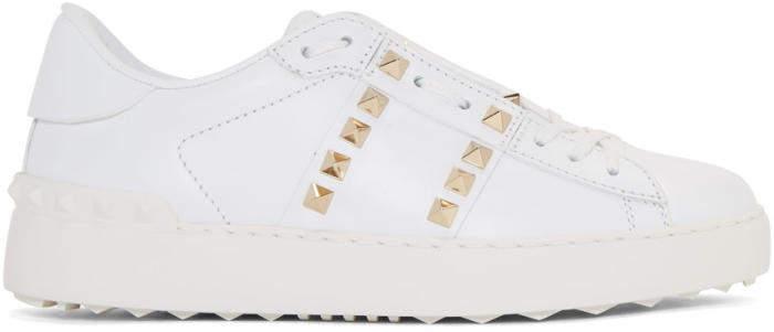 Valentino White Valentino Garavani Rockstud Untitled 11 Open Sneakers
