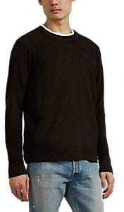ATM Anthony Thomas Melillo Men's Mélange Wool-Cashmere Sweater - Brown