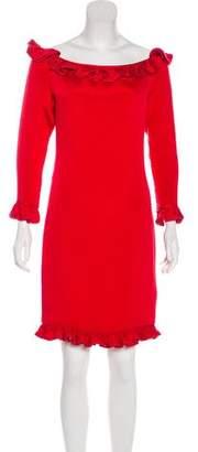 Valentino Ruffle-Trimmed Dress