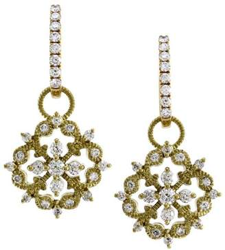 18K Yellow Gold 0.90ct. Diamond Earring Charms