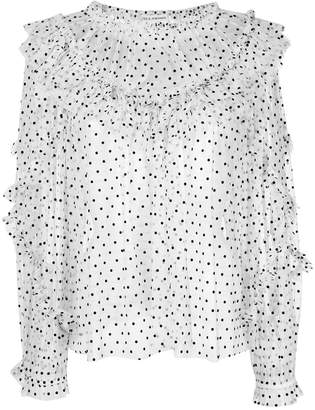 Ulla Johnson frilled sheer polka dot top