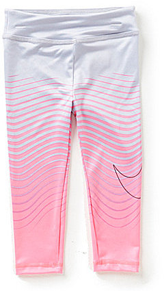 Nike Little Girls 2T-6X Dri-FIT Sport Essentials Wave Stripe Leggings