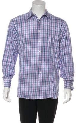 Billy Reid Plaid French Cuff Shirt