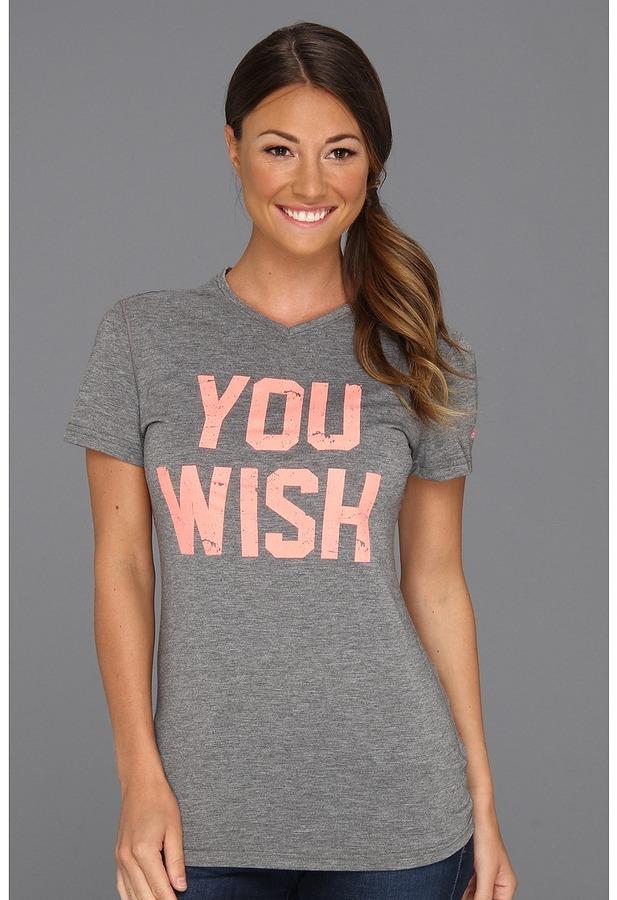 adidas You Wish Tee (Dark Grey Heather) - Apparel