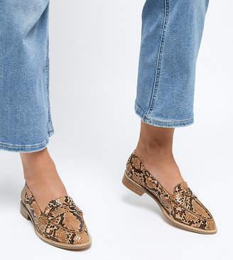 Asos Design Wide Fit Munch Loafer Flat Shoes