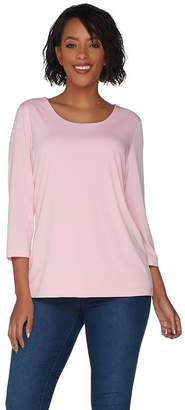 Susan Graver Modern Essentials Liquid Knit Fully Lined Top