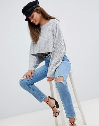 AX Paris cable knit cropped sweater