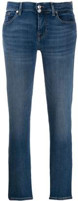 7 For All Mankind slim faded jeans