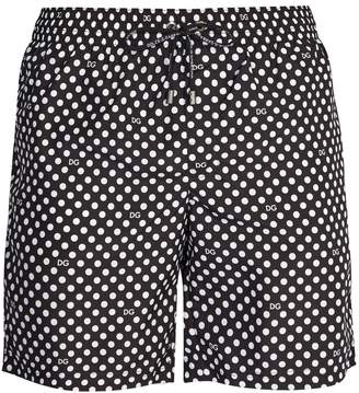 Dolce & Gabbana Polka-dot swim shorts