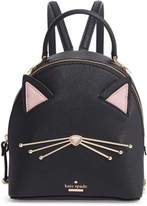 Kate Spade Cats Meow - Binx Leather Backpack