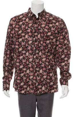 Paul Smith French Cuff Floral Print Button-Up Shirt