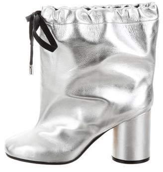 Maison Margiela Oversize Metallic Ankle Boots w/ Tags
