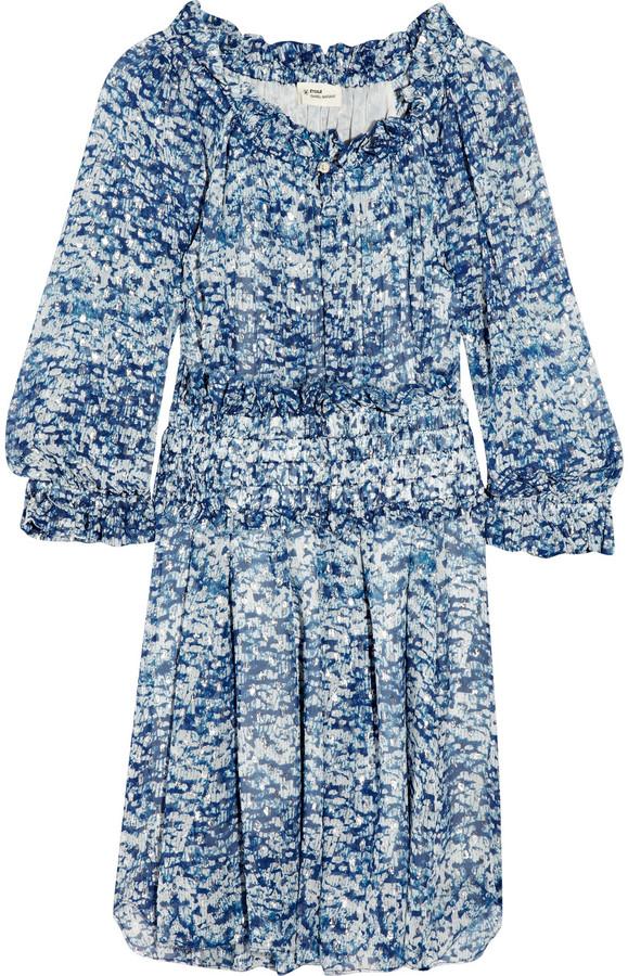 Etoile Isabel Marant Bell printed silk-chiffon dress