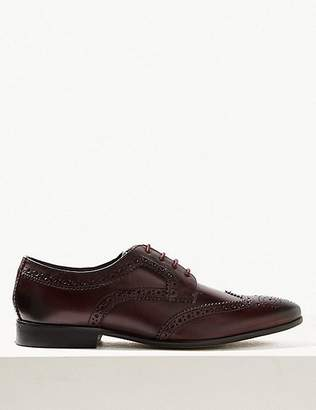 Marks and Spencer Leather Almond Toe Brogue Shoes