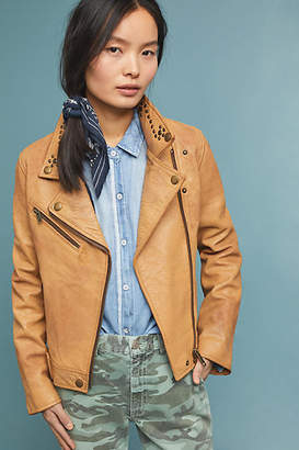 Frye The Biker Studs Leather Moto Jacket