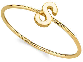 2053 14K Gold Dipped Initial Ring
