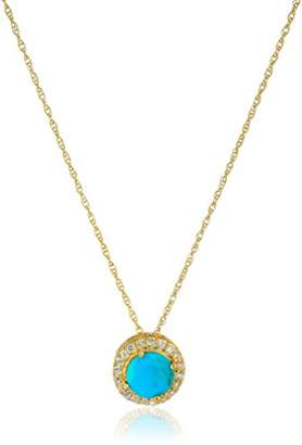 """Sterling Silver Gold Plated High Polish Pendant and 18"""" Rope Chain"""