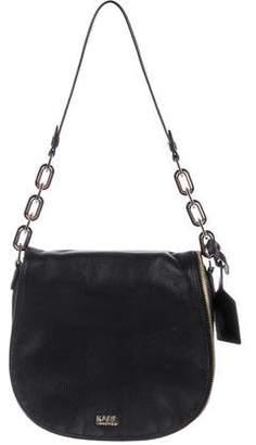 Karl Lagerfeld Grained Leather Saddle Bag