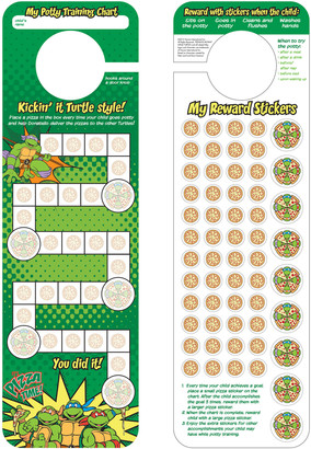 Teenage Mutant Ninja Turtles Potty Training Chart & Stickers