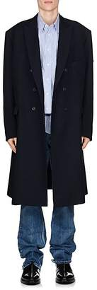 Balenciaga Men's Virgin Wool Twill Double-Breasted Coat
