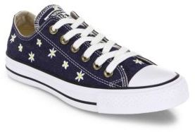 Converse Chuck Taylor All-Star Denim Daisy Low-Top Sneakers $70 thestylecure.com