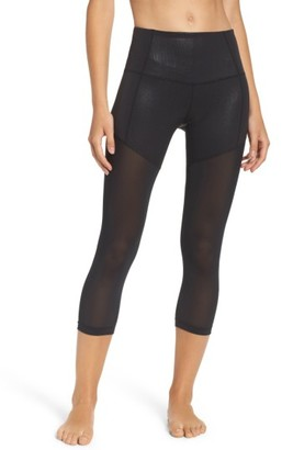 Women's Zella Pearl High Waist Laminate Crop Leggings $59 thestylecure.com