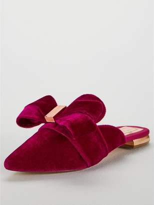 Ted Baker Qamini Pointed Flat Mule Shoe - Pink