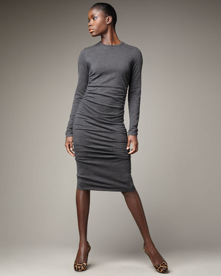 Michael Kors Ruched Sheath Dress