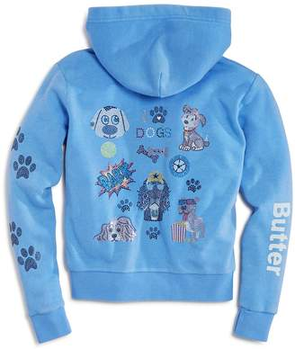 Butter Shoes Girls' I Love Dogs Zip-Up Hoodie