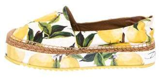 Dolce & Gabbana 2016 Lemon Flatform Espadrilles