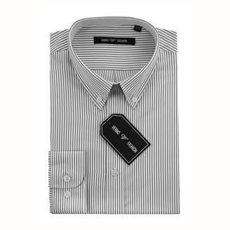VERNO Verno Men's Slim Fit Dress Shirts with Stripes