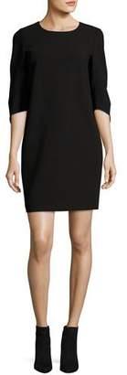 Lafayette 148 New York Miriam 3/4-Sleeve Finesse Crepe Dress, Black