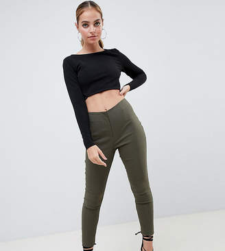 Asos DESIGN Petite high waist pants in skinny fit