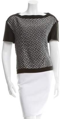 Hache Textured Oversize Top
