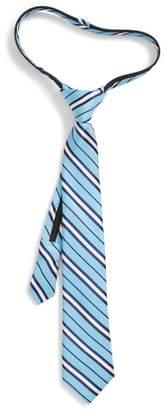 Nordstrom Candy Stripe Silk Zip Tie