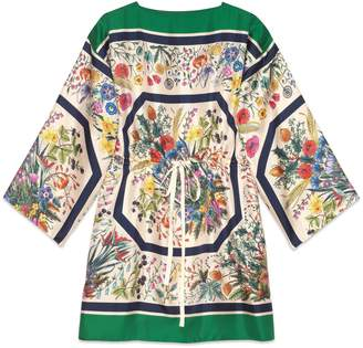 Gucci Silk kaftan with floral print